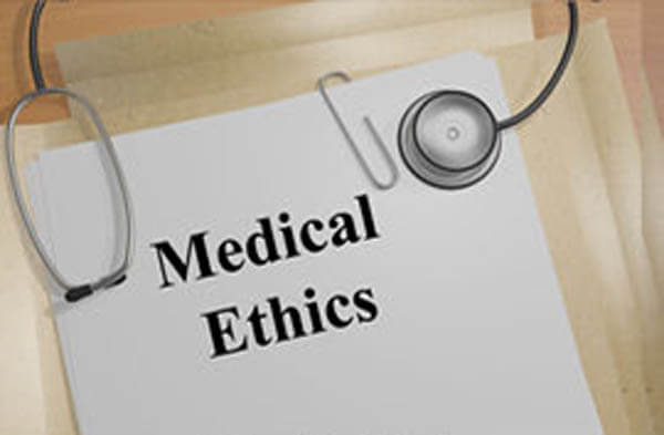 Medical Ethics document with stethoscope